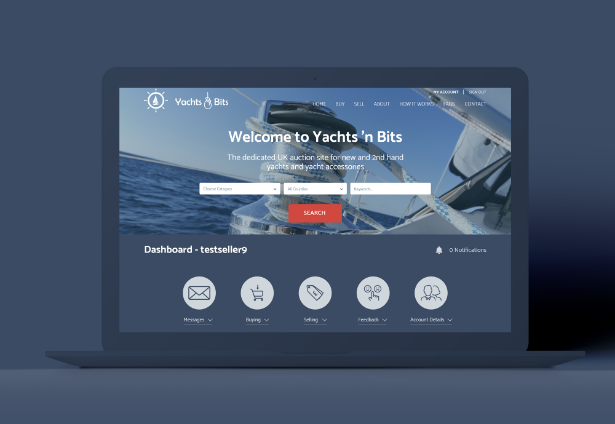 Yachts, Boats and Bits screen